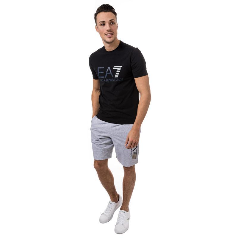Tričko Emporio Armani EA7 Mens Train Logo Series Crew Neck T-Shirt Black Velikost - M