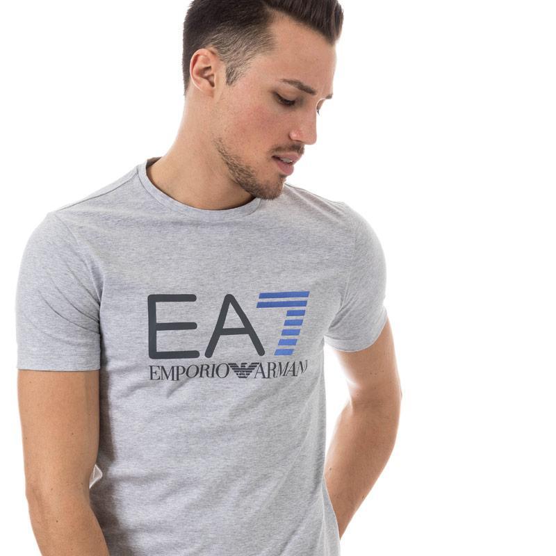 Tričko Emporio Armani EA7 Mens Train Logo Series Crew Neck T-Shirt Black