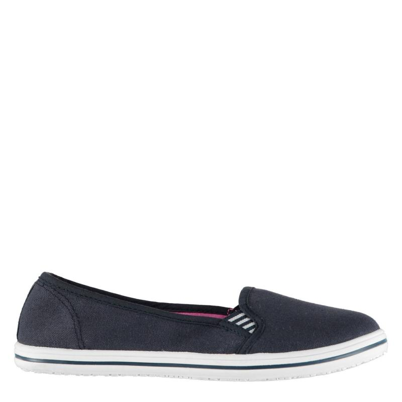 Obuv Slazenger Ladies Canvas Slip On Shoes Navy