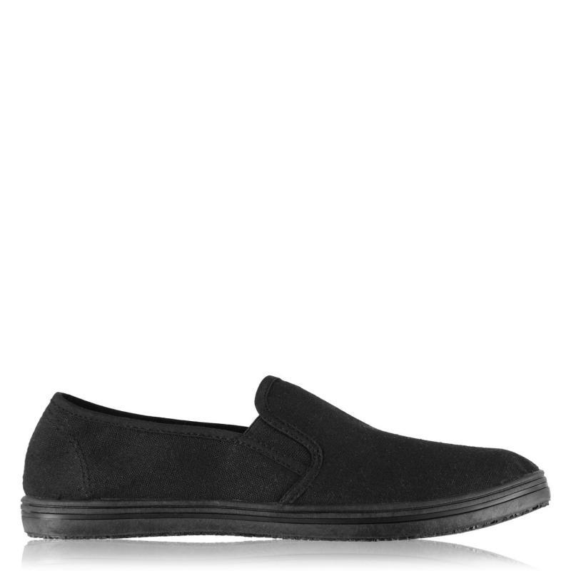 Boty Slazenger Slip On Junior Canvas Shoes Black