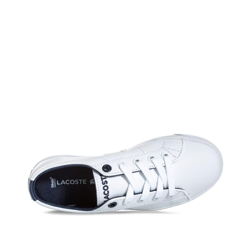 Boty Lacoste Children Boys Riberac Trainers White Navy