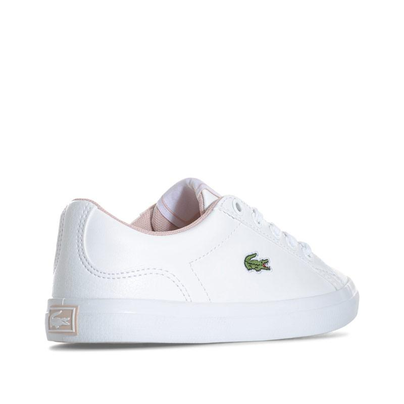 Lacoste Children Girls Lerond Trainers White pink