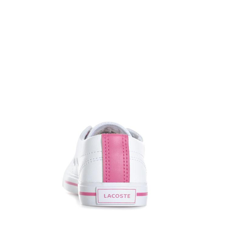 Lacoste Children Girls Riberac Trainers White pink
