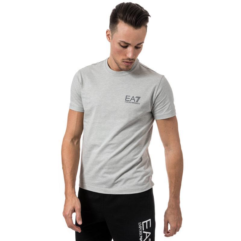 Tričko Emporio Armani EA7 Mens Train core ID Crew Neck T-Shirt Light Grey