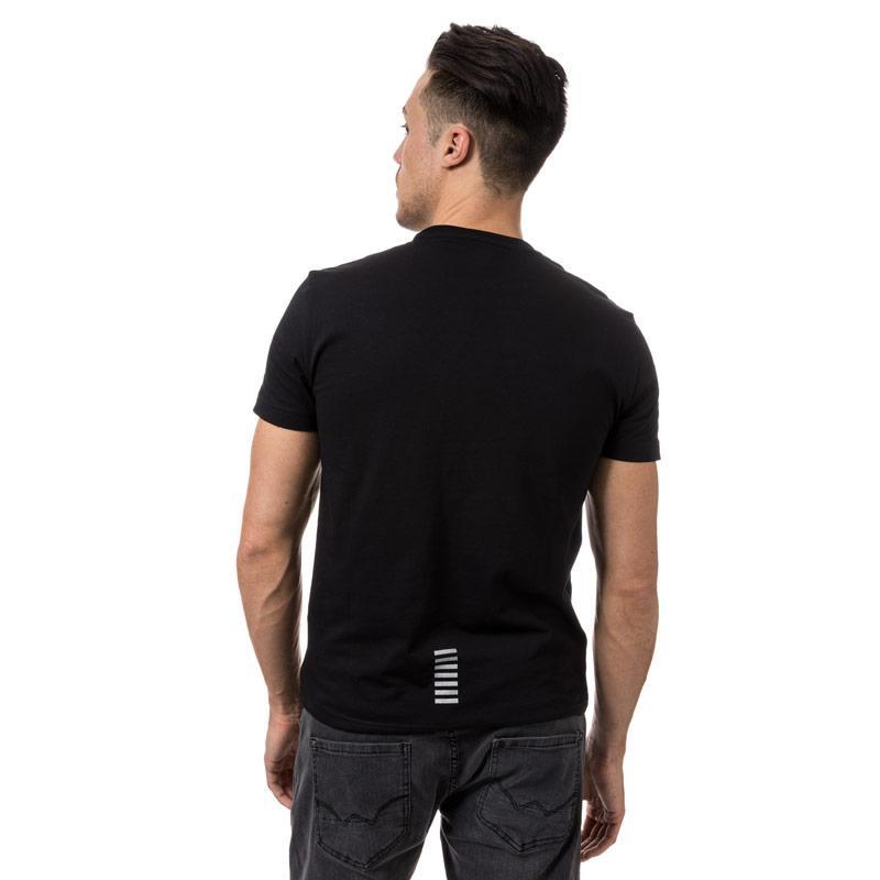 Tričko Emporio Armani EA7 Mens Train core ID Crew Neck T-Shirt Black