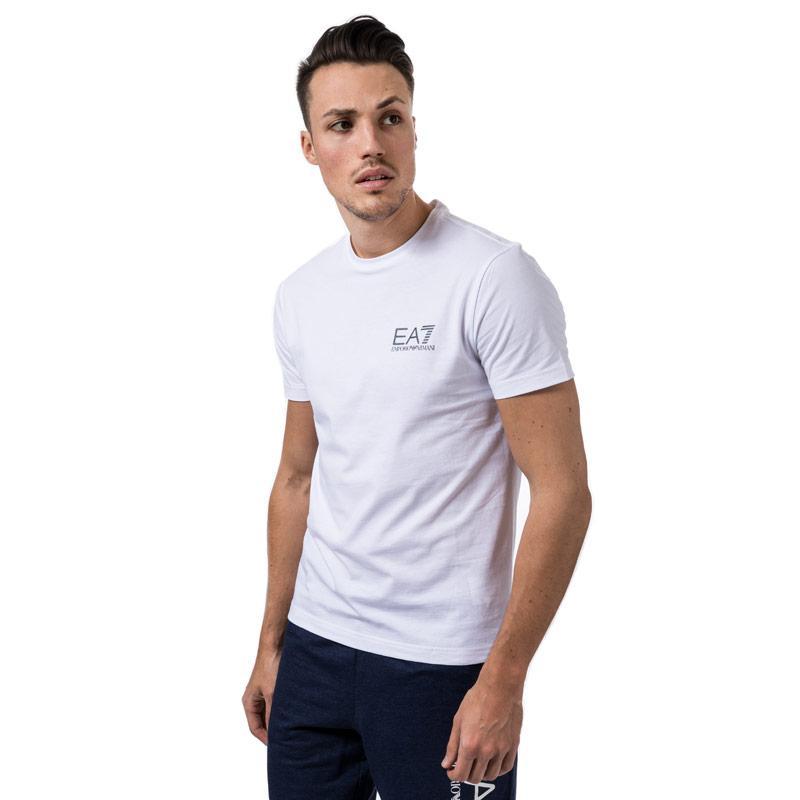 Tričko Emporio Armani EA7 Mens Train core ID Crew Neck T-Shirt White