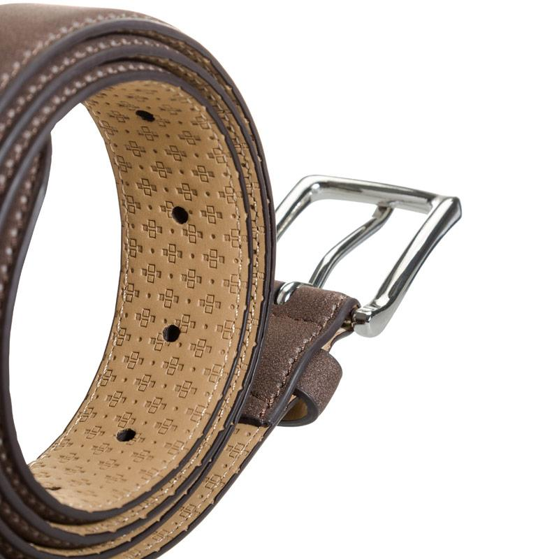 Ben Sherman Mens Vauxhall Geo Print Belt Brown