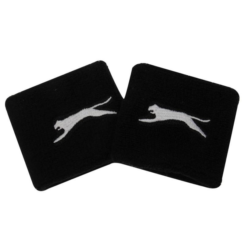 Slazenger 2 Pack Wristbands Black