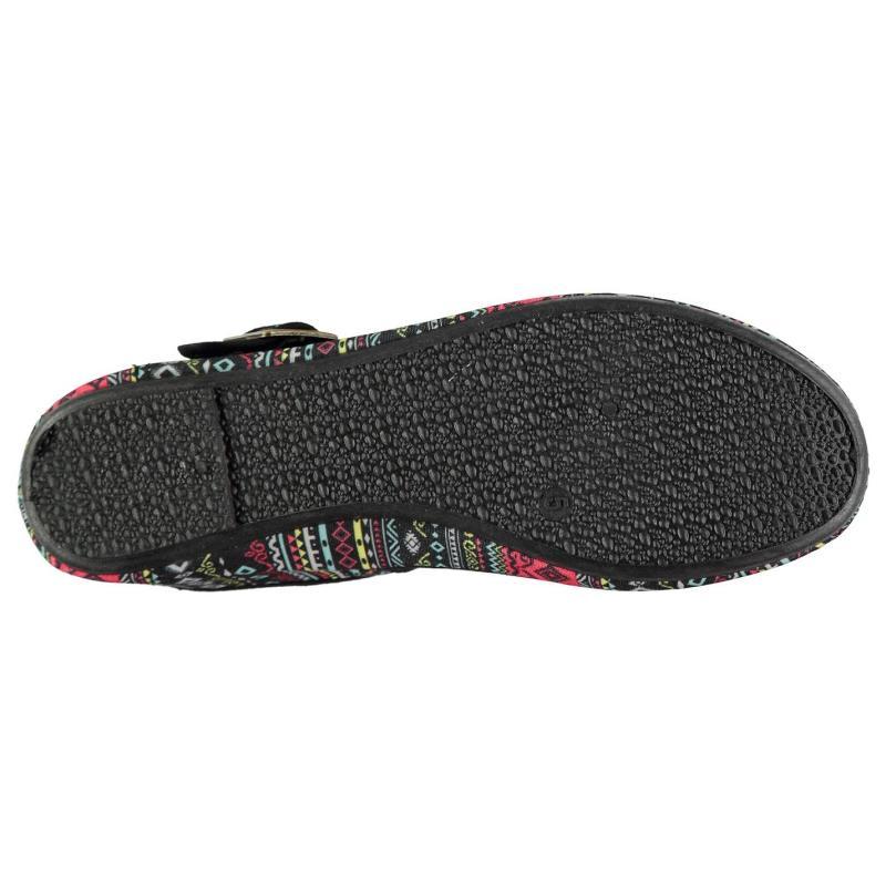 Obuv Slazenger Canvas Mary Jane Ladies Shoes Black Broderie