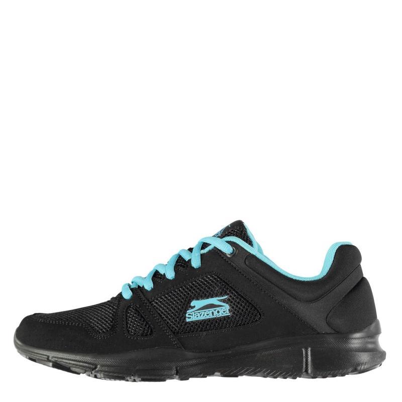 Slazenger Force Mesh Running Shoes Ladies Black/Blue