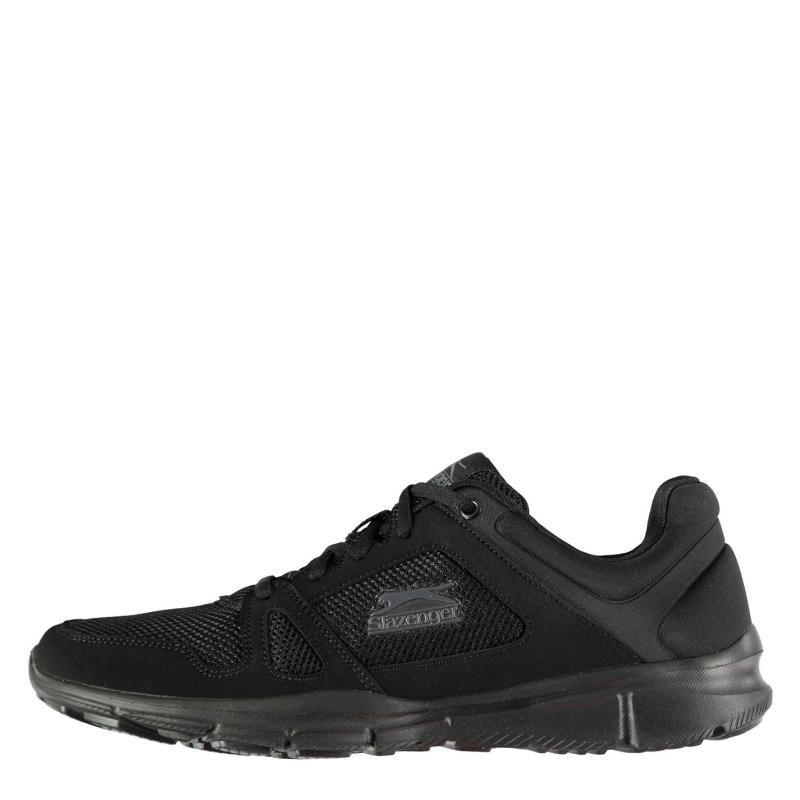 Slazenger Force Mesh Running Shoes Mens Black/Black