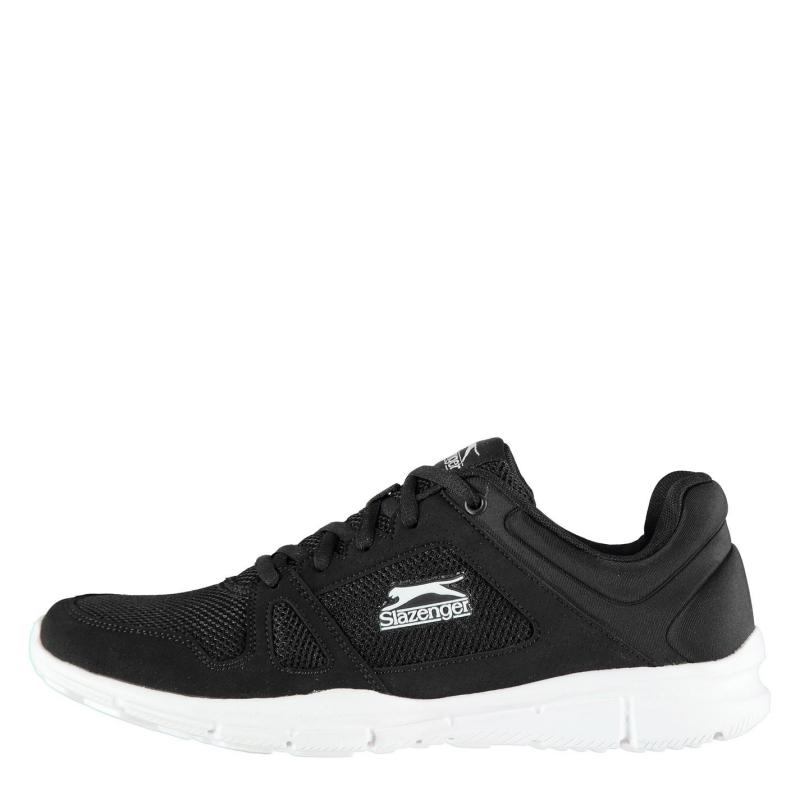 Slazenger Force Mesh Running Shoes Mens Black/White