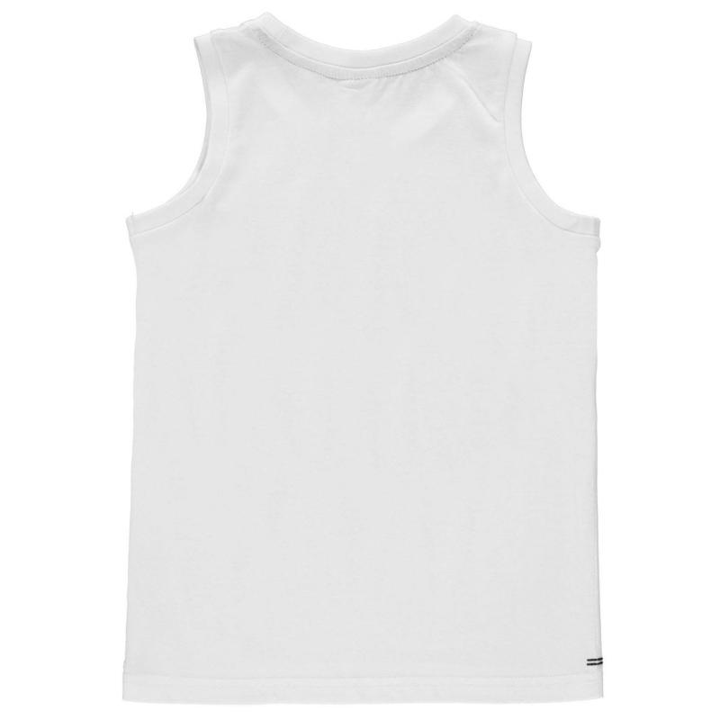 Tílko Slazenger Sleeveless T Shirt Junior Boys Grey Marl