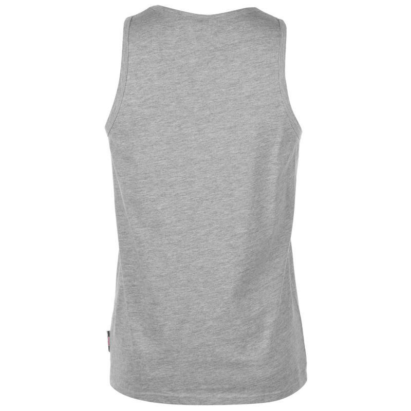 Tílko Lee Cooper Essentials Vest Mens Grey Marl