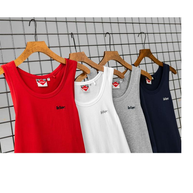 Tílko Lee Cooper Essentials Vest Mens Red
