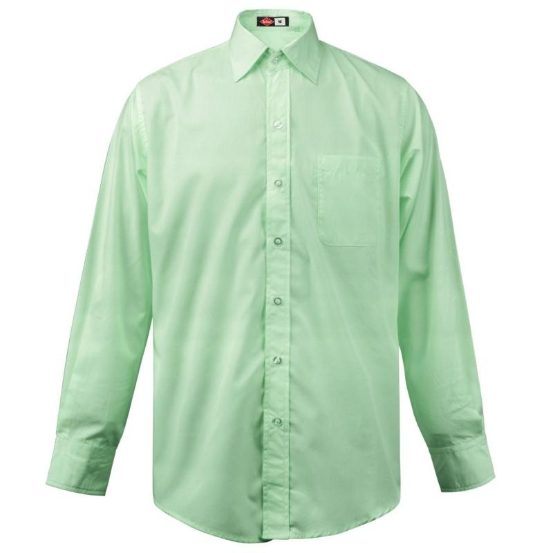 Lee Cooper Long Sleeve Pocket Shirt Mens Mint