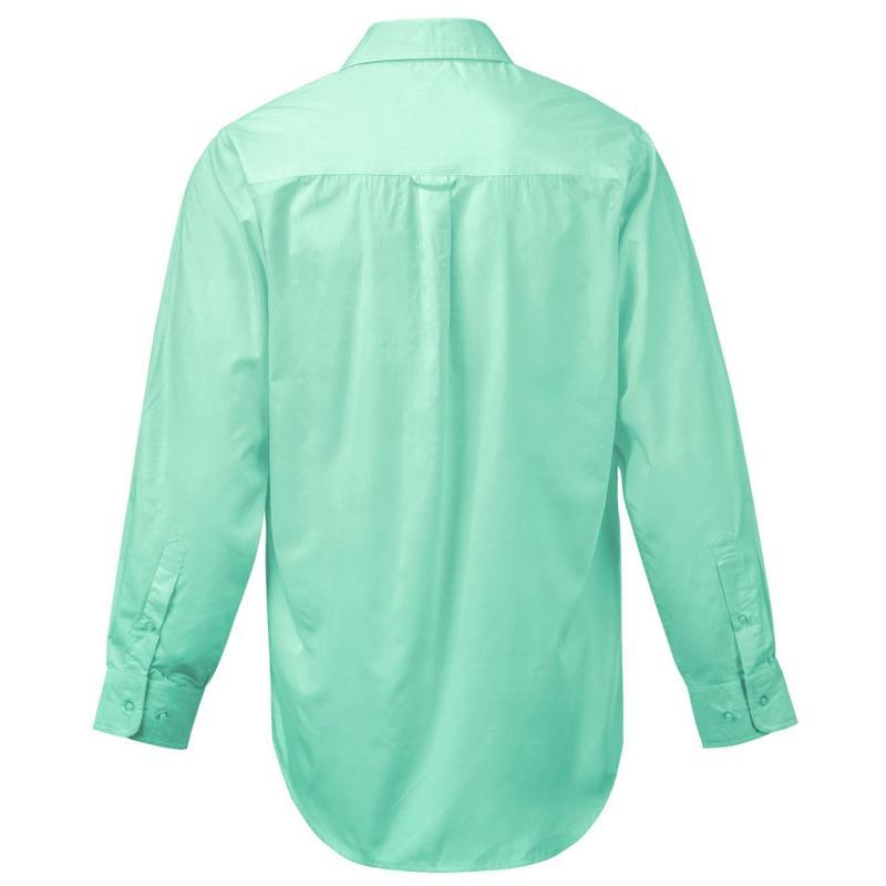 Lee Cooper Long Sleeve Pocket Shirt Mens Tan