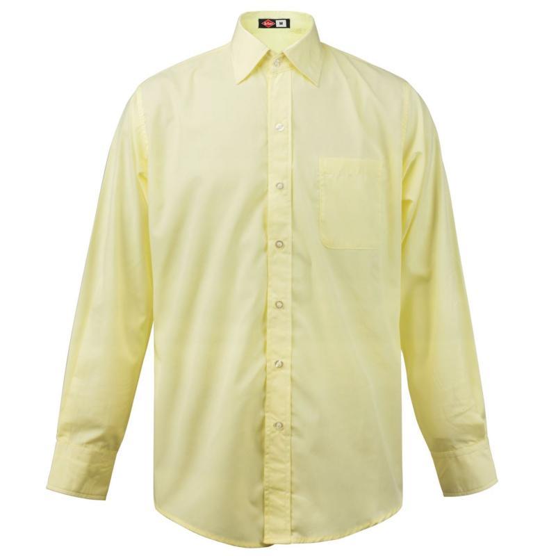 Lee Cooper Long Sleeve Pocket Shirt Mens Yellow