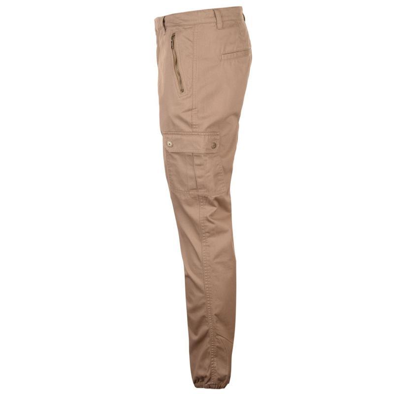 Kalhoty Pierre Cardin Closed Zip Hem Trousers Mens Grey
