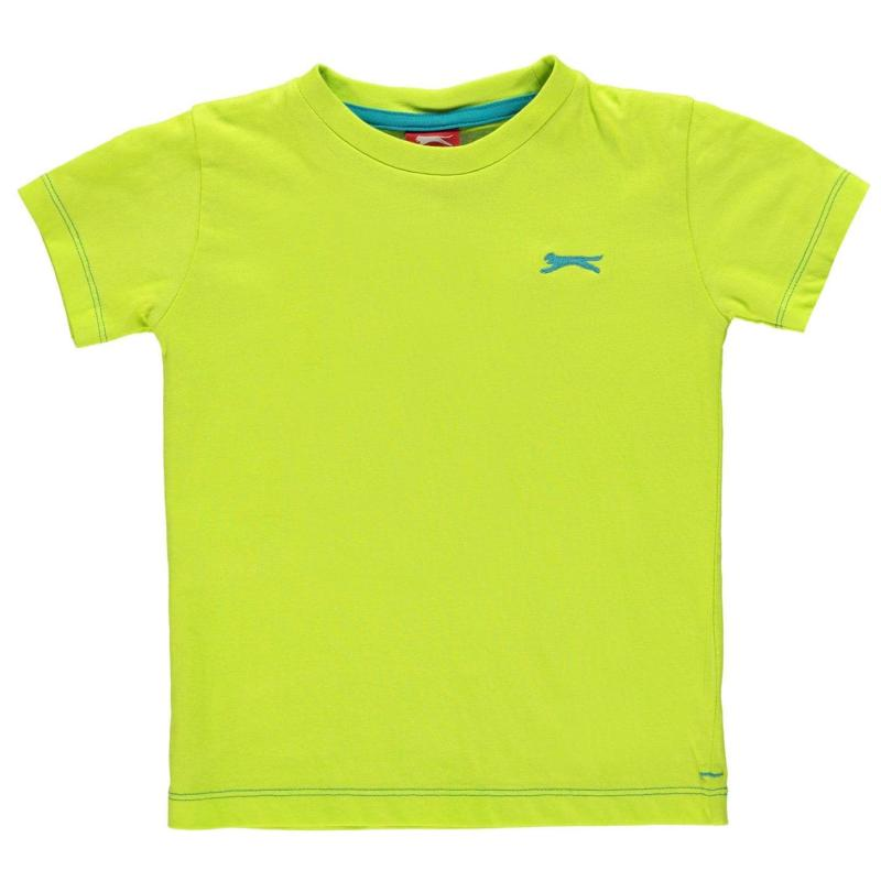 Tričko Slazenger Plain T Shirt Infant Boys Lime Green