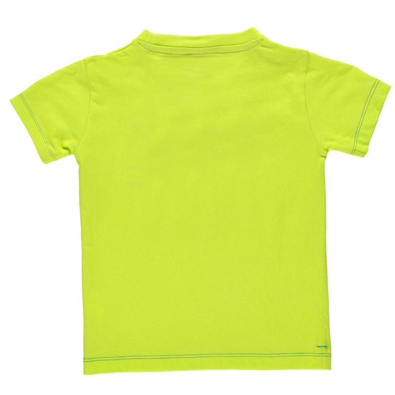 Tričko Slazenger Plain T Shirt Infant Boys Lime Green