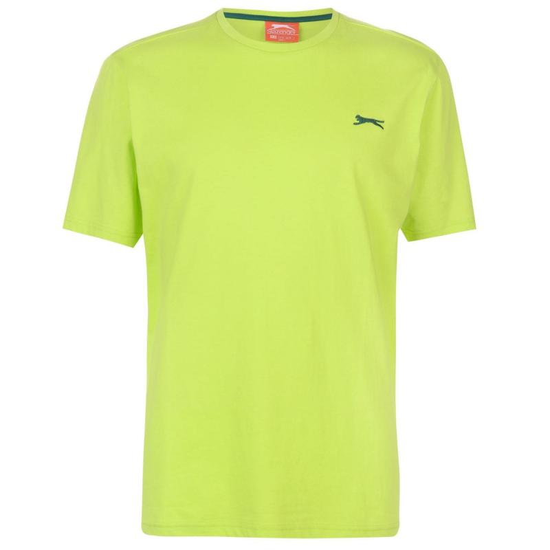 Tričko Slazenger Plain T Shirt Mens Lime Green
