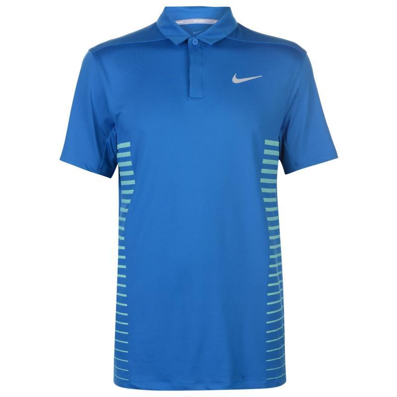Nike Dry Fit Polo Shirt Mens Blue