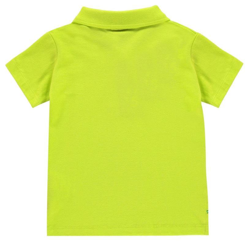Tričko Slazenger Plain Polo Shirt Infant Boys Lime Green