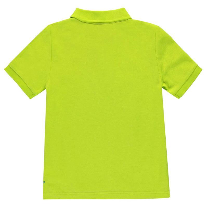 Tričko Slazenger Plain Polo Shirt Junior Boys Purple