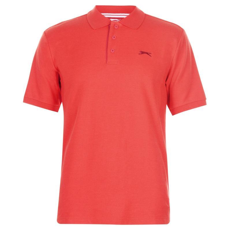 Slazenger Plain Polo Shirt Mens Poppy Red