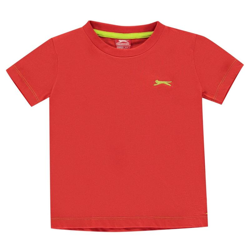 Tričko Slazenger Plain T Shirt Infant Boys Red