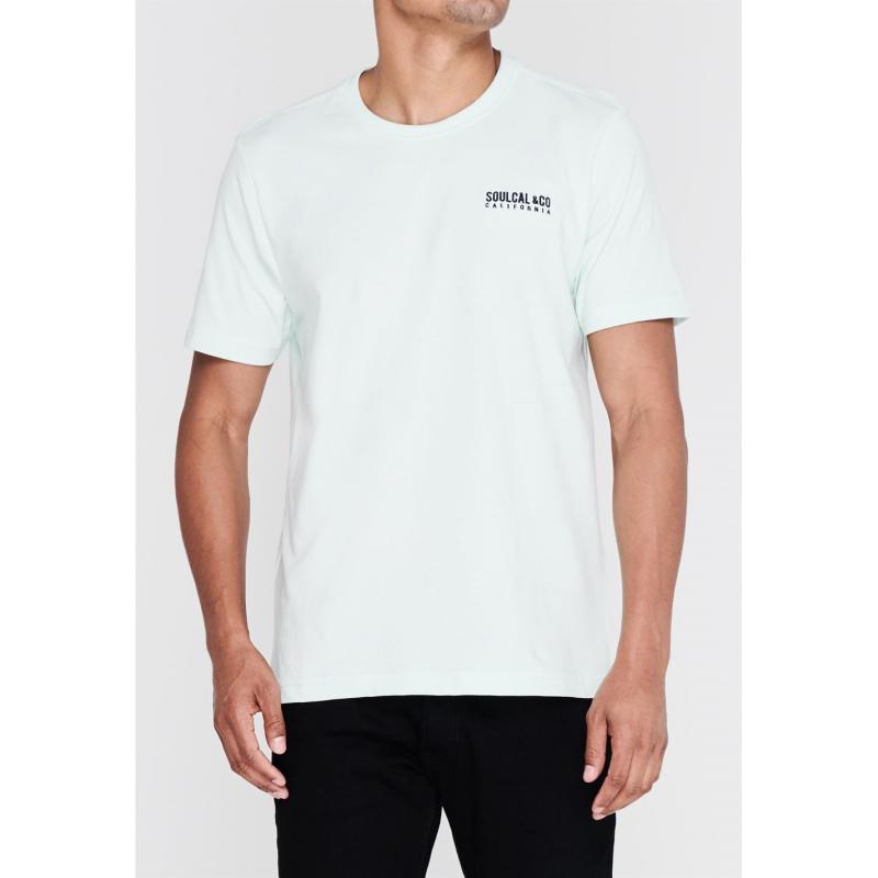 Tričko SoulCal Small Logo T Shirt Mens Sky Marl