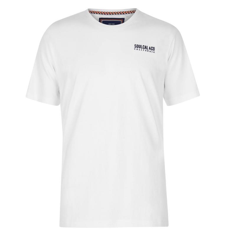 Tričko SoulCal Small Logo T Shirt Mens Navy