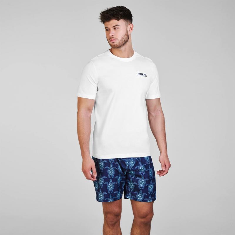 Tričko SoulCal Small Logo T Shirt Mens Aqua Marl