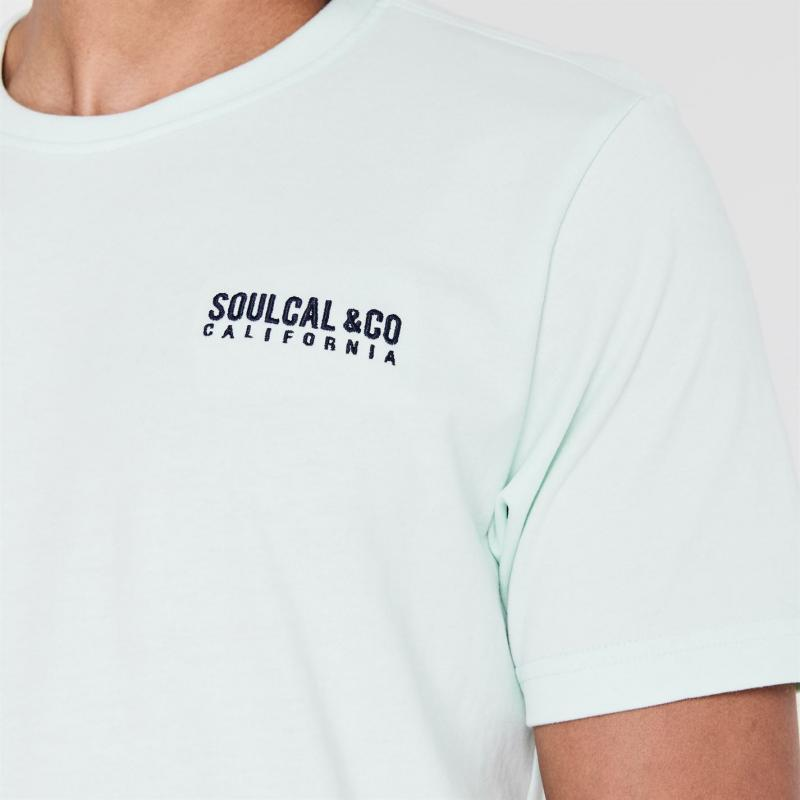 Tričko SoulCal Small Logo T Shirt Mens White