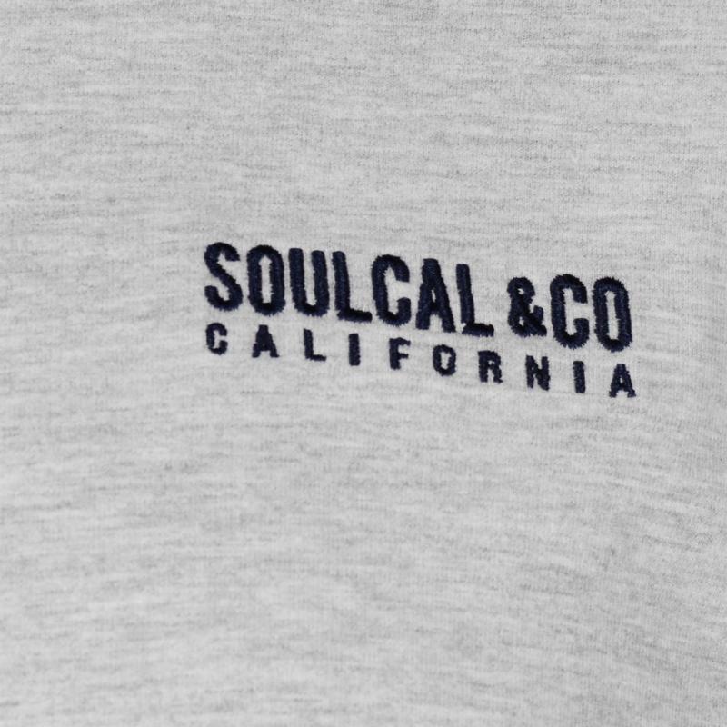Tričko SoulCal Small Logo T Shirt Mens Grey Marl
