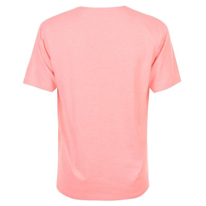 Tričko SoulCal Small Logo V Neck T Shirt Mens Coral Marl