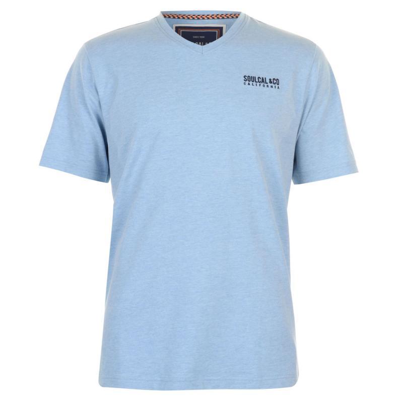 Tričko SoulCal Small Logo V Neck T Shirt Mens White