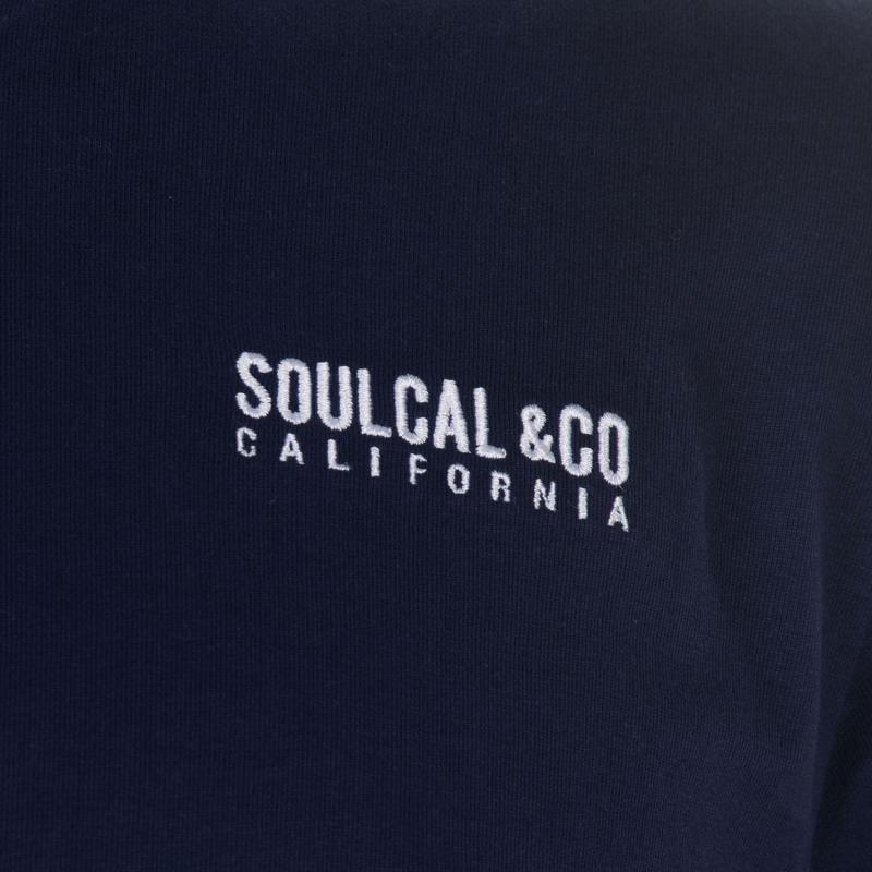 Tričko SoulCal Small Logo V Neck T Shirt Mens White