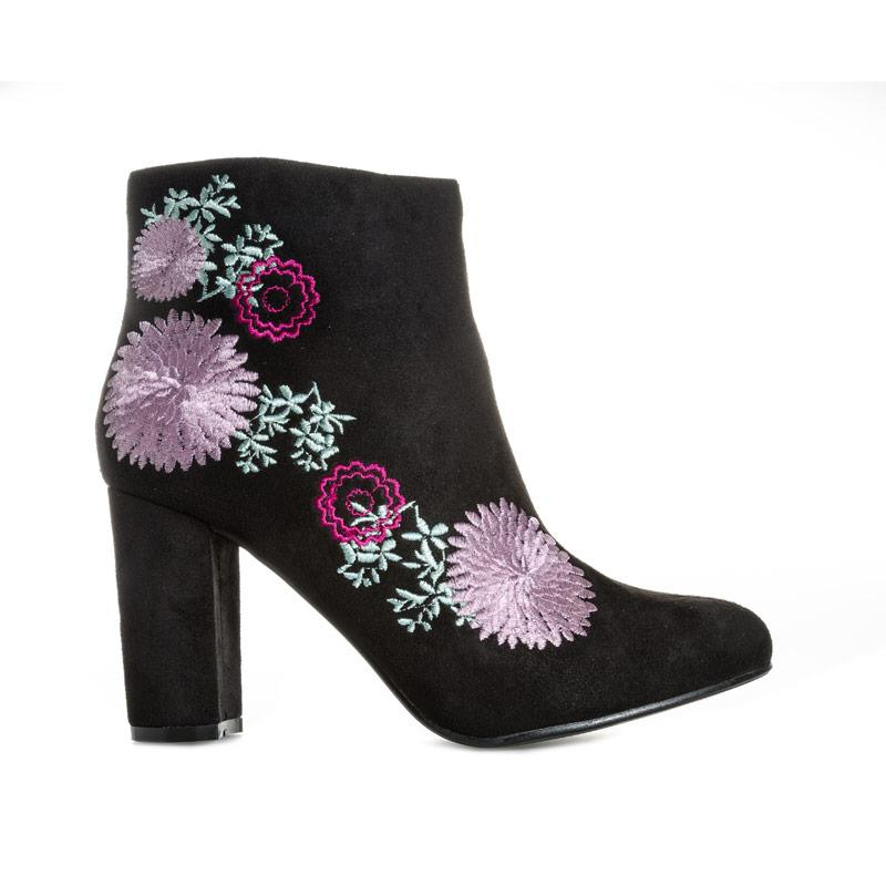 Dolcis Womens Felicity Embroidered Boots Black