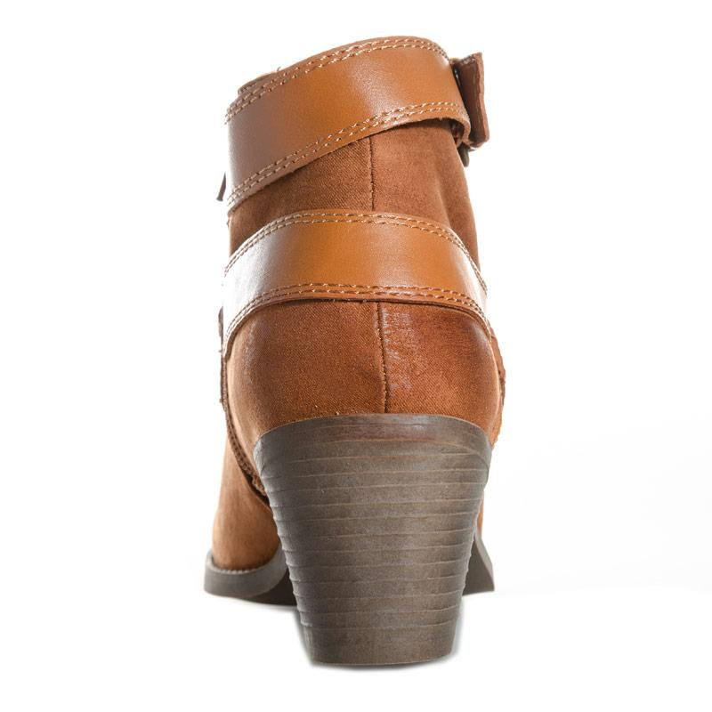 Dolcis Womens Quincy Ankle Boots Tan