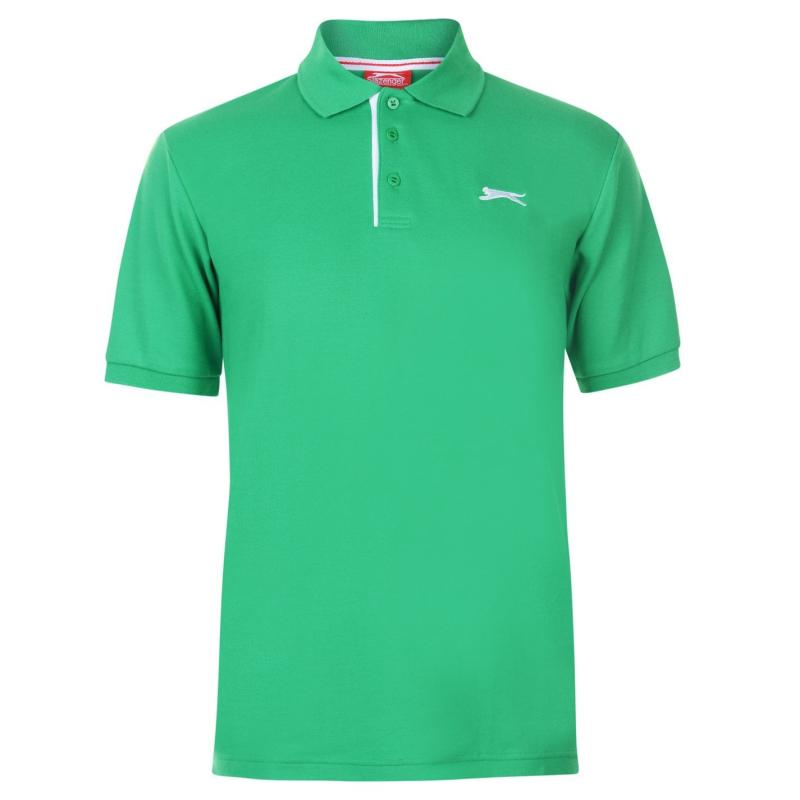 Slazenger Plain Polo Shirt Mens Bright Green