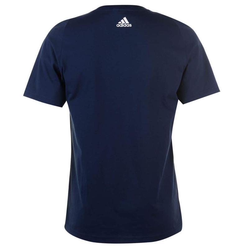 Tričko adidas Linear Logo T Shirt Mens LtScarlet/Black