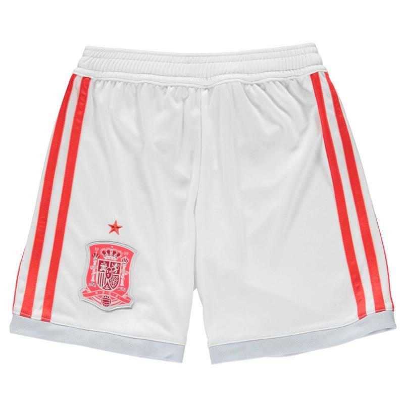 Adidas Spain Away Shorts 2018 Junior White/Red