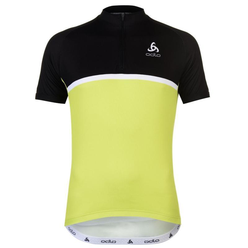 Odlo Active Short Sleeve Cycling Jersey Mens Green/Black