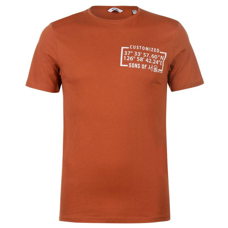 Tričko Only and Sons Santos T Shirt Bombay Brown