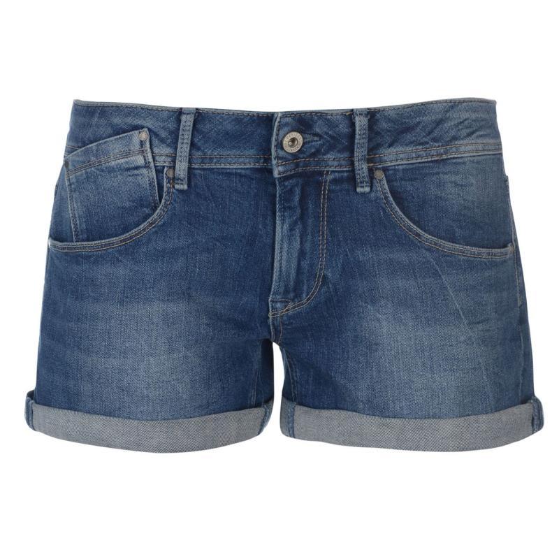 Pepe Jeans Siouxie Denim Shorts Blue Denim