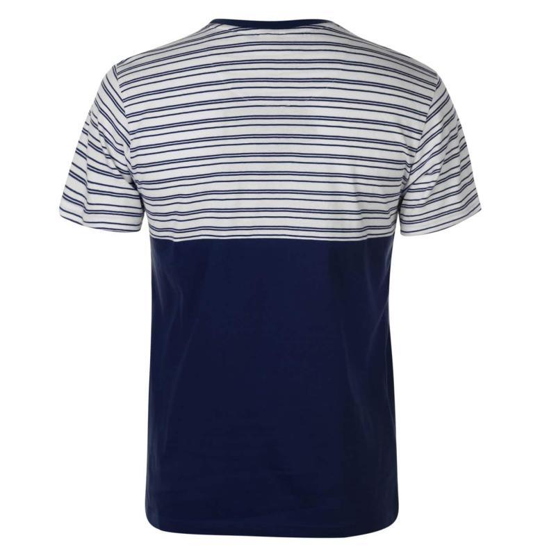 Tričko Pierre Cardin Stripe T Shirt Mens Blue