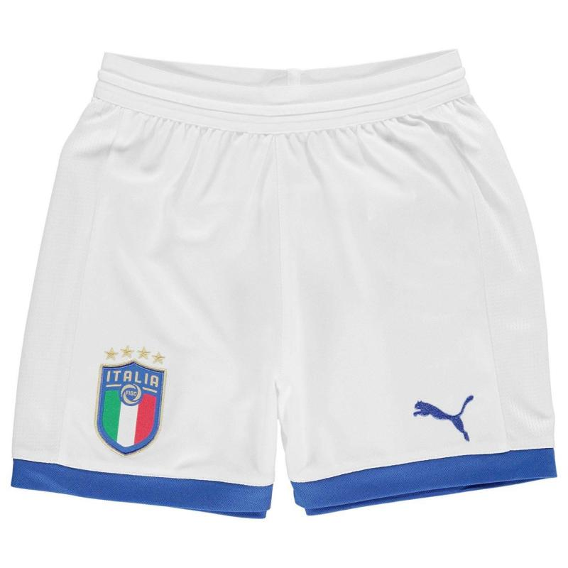 Puma Italy Away Shorts 2018 Junior White