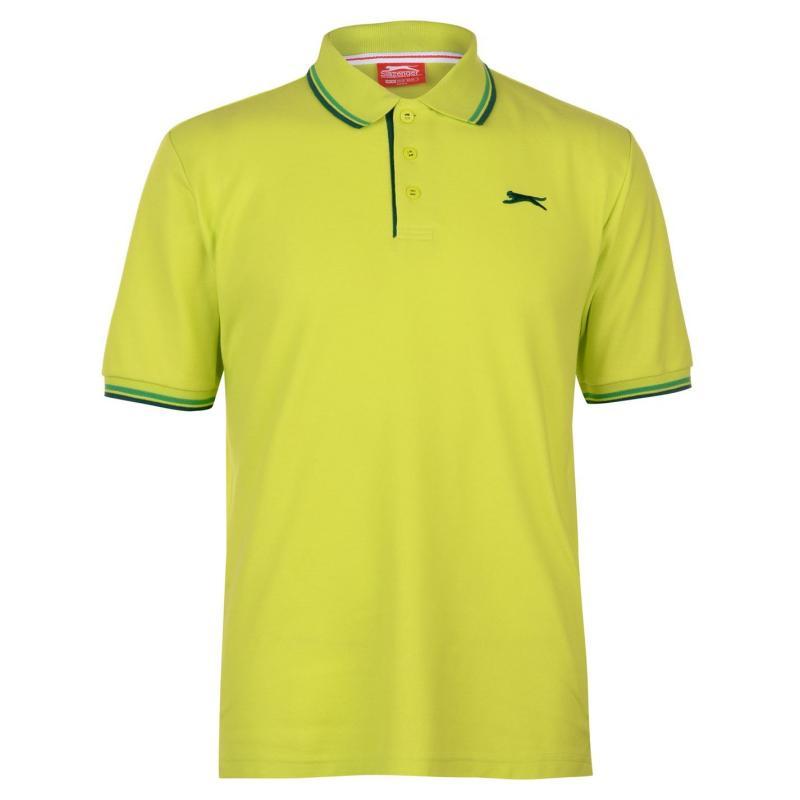 Slazenger Tipped Polo Shirt Mens Lime Green